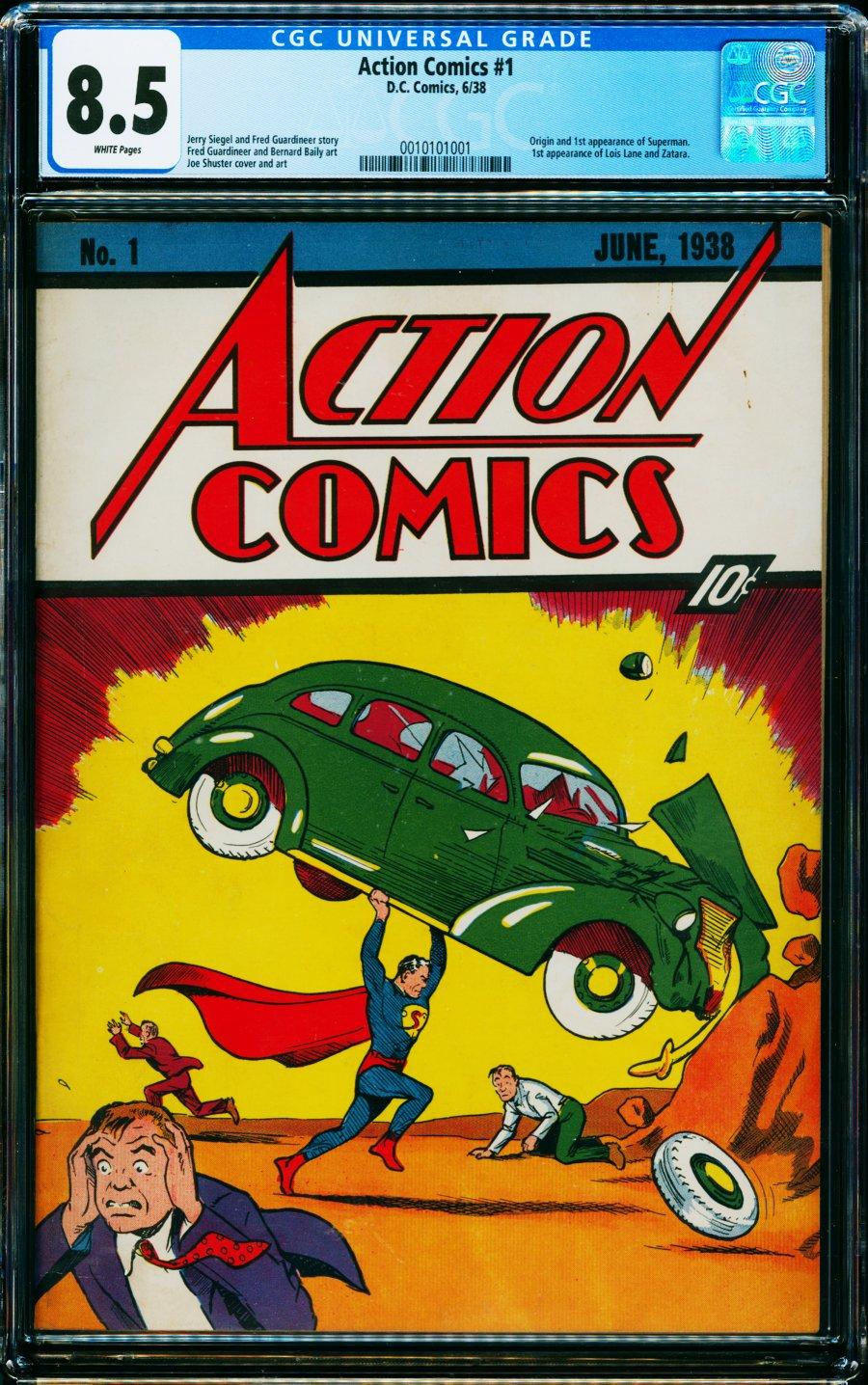 action comics 1 comic connect 2021 - Action Comics #1 se vende por la cifra récord de 3,25 millones de dólares