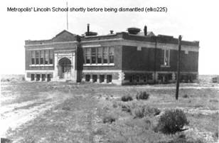 Lincoln School Shortly Before Demolition