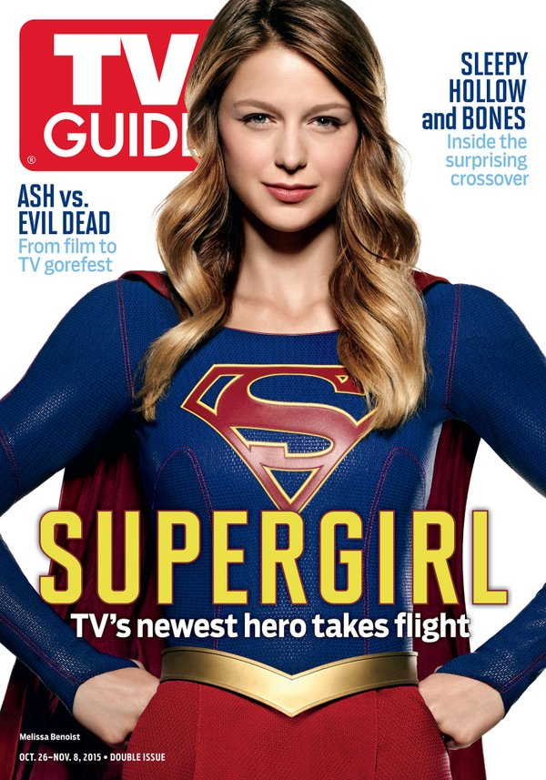 the superman super site october 21 2015 melissa benoist featured on tv guide cover. Black Bedroom Furniture Sets. Home Design Ideas
